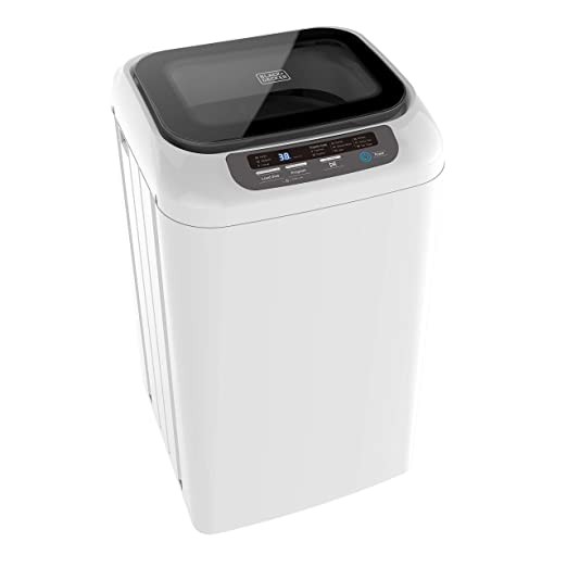 BLACK+DECKER 0.84 Cubic Feet Portable Washer - Mini Washing Machine for  Apartments, Small Houses, Dorm Room - Laundry Appliances with Timer, LED ...