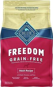 Blue Buffalo Freedom Grain Free Recipe for Dog, Beef Recipe, 4 lb
