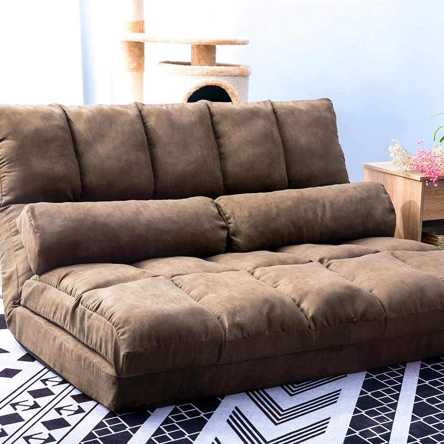 - Amazon.com: YSKWA Double Chaise Lounge Sofa Chair Floor Couch With