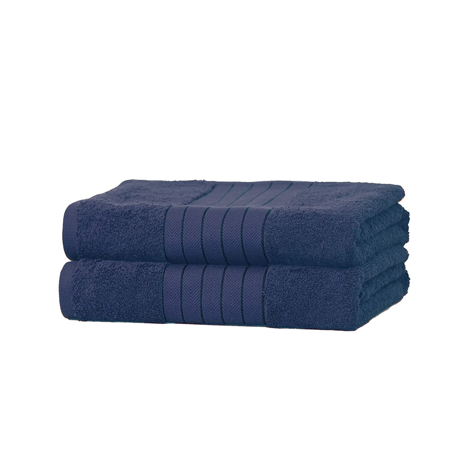 Dreamscene Luxury 100% Cotton 2 x Jumbo Bath Sheets Extra Large Towels Bale Absorbent - Navy Blue TB2NV643