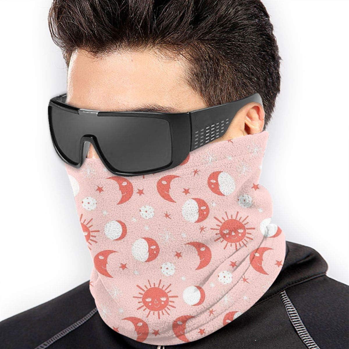 Sun Moon Stars Neck Warmer Gaiter For Men Women Headband Face Mask Bandana Head Wrap Scarf Headwear Winter Balaclava For Ski Running Motorcycle