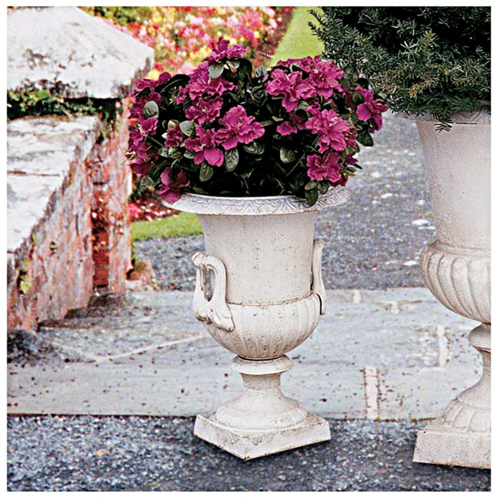 Design Toscano Chateau Elaine Authentic Iron Urn - Medium by Design Toscano