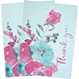 BIOBROWN Poly Mailer Flower Print Thank You Design for Shipping-10x13inch-100pcs,Pink