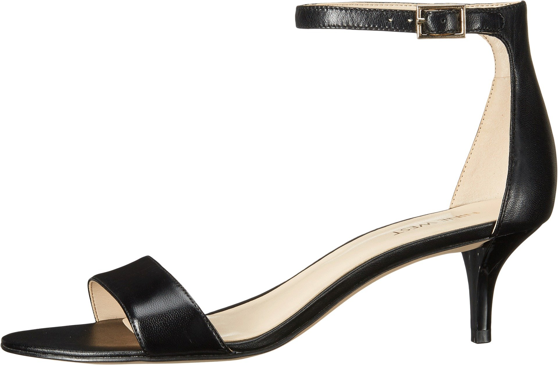 Nine West Women's Leisa Leather Heeled Dress Sandal, Black Leather, 7.5 M US by Nine West (Image #2)