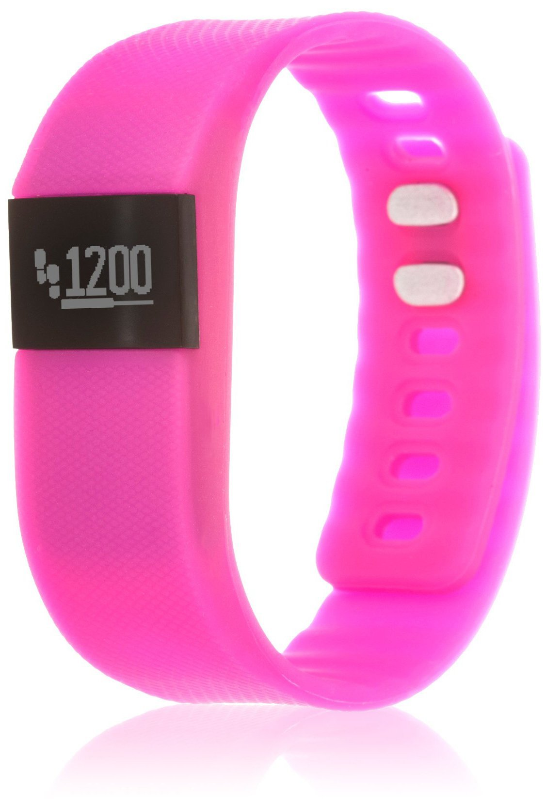 Zunammy Women's 'Activity Tracker with Call and Message Reminders' Digital LED and Rubber Smart Watch, Color:Pink (Model: NWTR021PK)