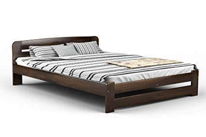 b57dcefc4a5 NEW Super King Size Bed quot ONE quot  6ft Solid Pine With Slats (WALNUT