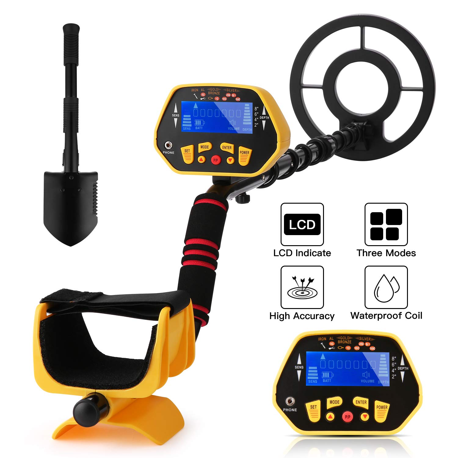 Noeler Metal Detector,High Accuracy Detector with Pinpoint Function,Professional Waterproof Metal Detectors for Adults and Kids Size 1