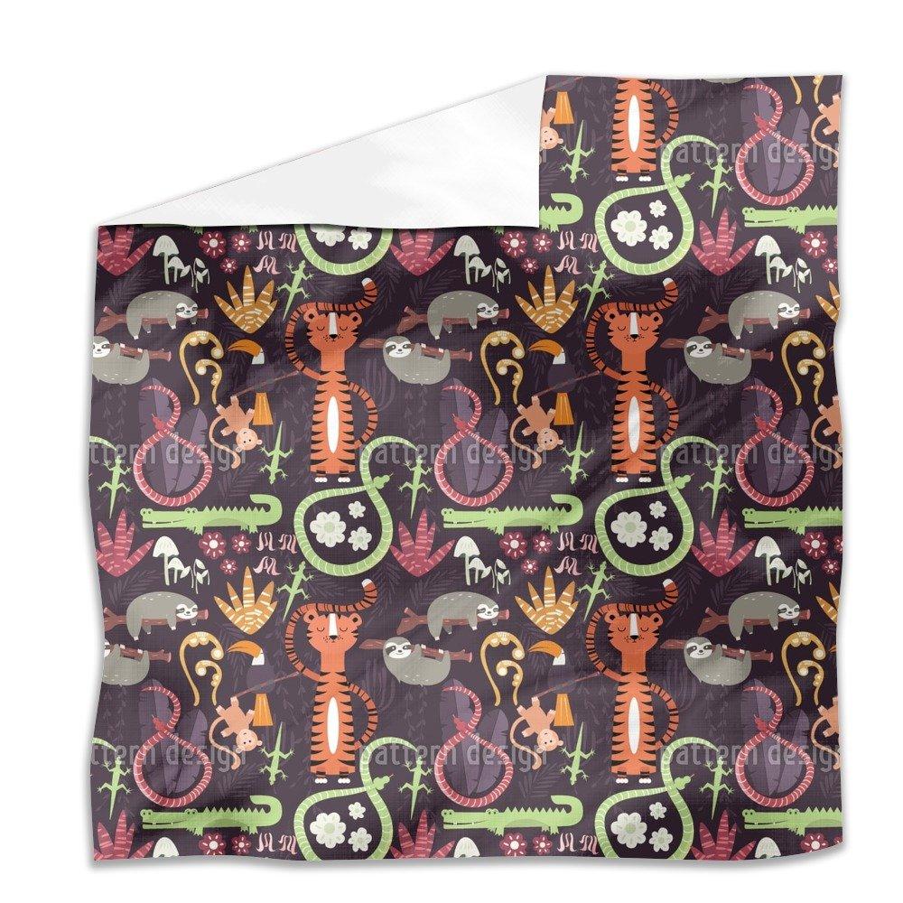Jungle Animals Flat Sheet: King Luxury Microfiber, Soft, Breathable