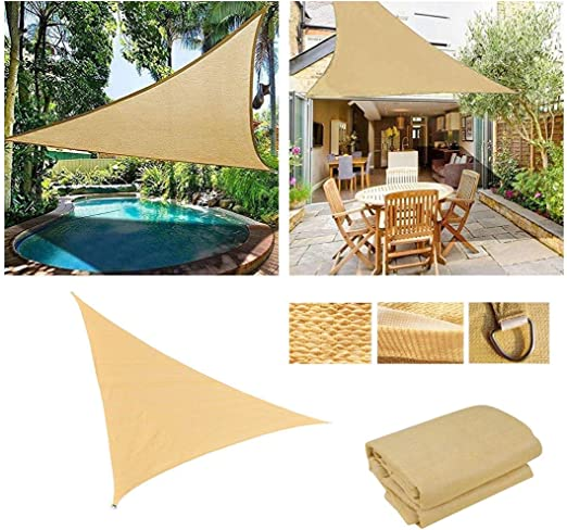 Vela de Sombra Toldo Vela para Jardin Patio Sun Shade Sail Canopy ...