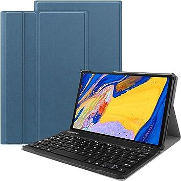 VOVIPO Funda Teclado Español Ñ para Lenovo Tab M10 FHD Plus (2nd Gen) 10.3 Inch, Protectora Cover Funda con Desmontable Wireless Teclado
