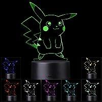 3D Illusion LED-nachtlampje, 7 kleuren Geleidelijk veranderende aanraakschakelaar USB-tafellamp voor vakantiegeschenken…