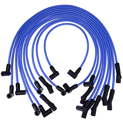 New Racing 9mm BLUE Spark Plug Wire Set Ignition Wire Set For Ford F-150 F150 Mustang 5.0L 5.8L, SBF 302: Automotive