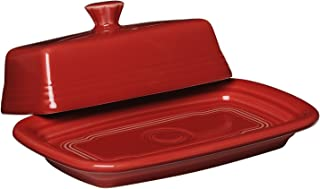 product image for Fiesta Covered Butter Dish, X-Large, Scarlet