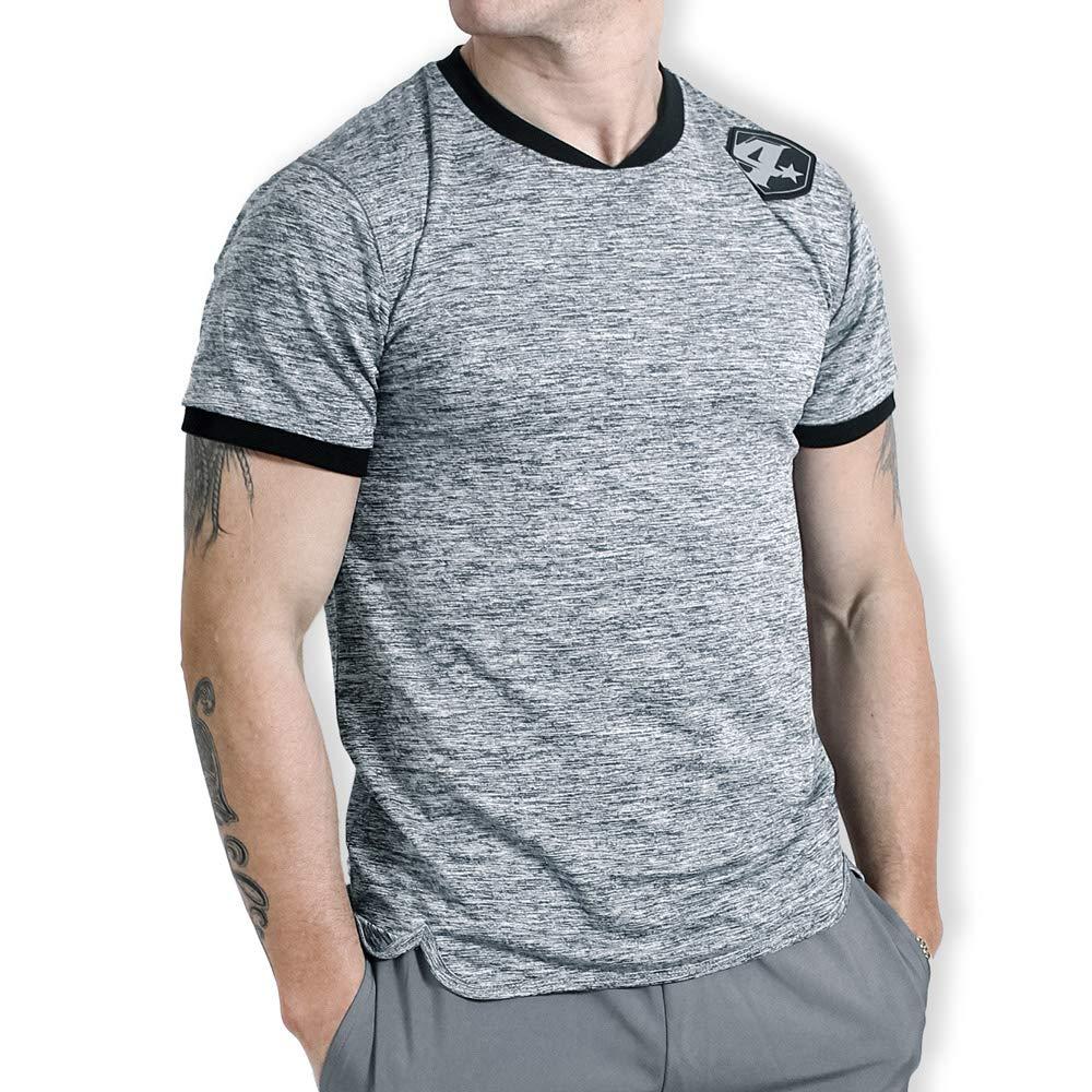 4More® - (K7, Fitness T-Shirt Herren, Kurzarmshirt, Schnell trocknend, Antibakteriell, Schweiss absorbierend B07JL3YL81 Oberteile ein guter Ruf in der Welt