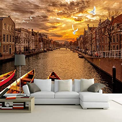 Zdbwjj Custom 3d Wall Mural Wallpaper Retro European Street