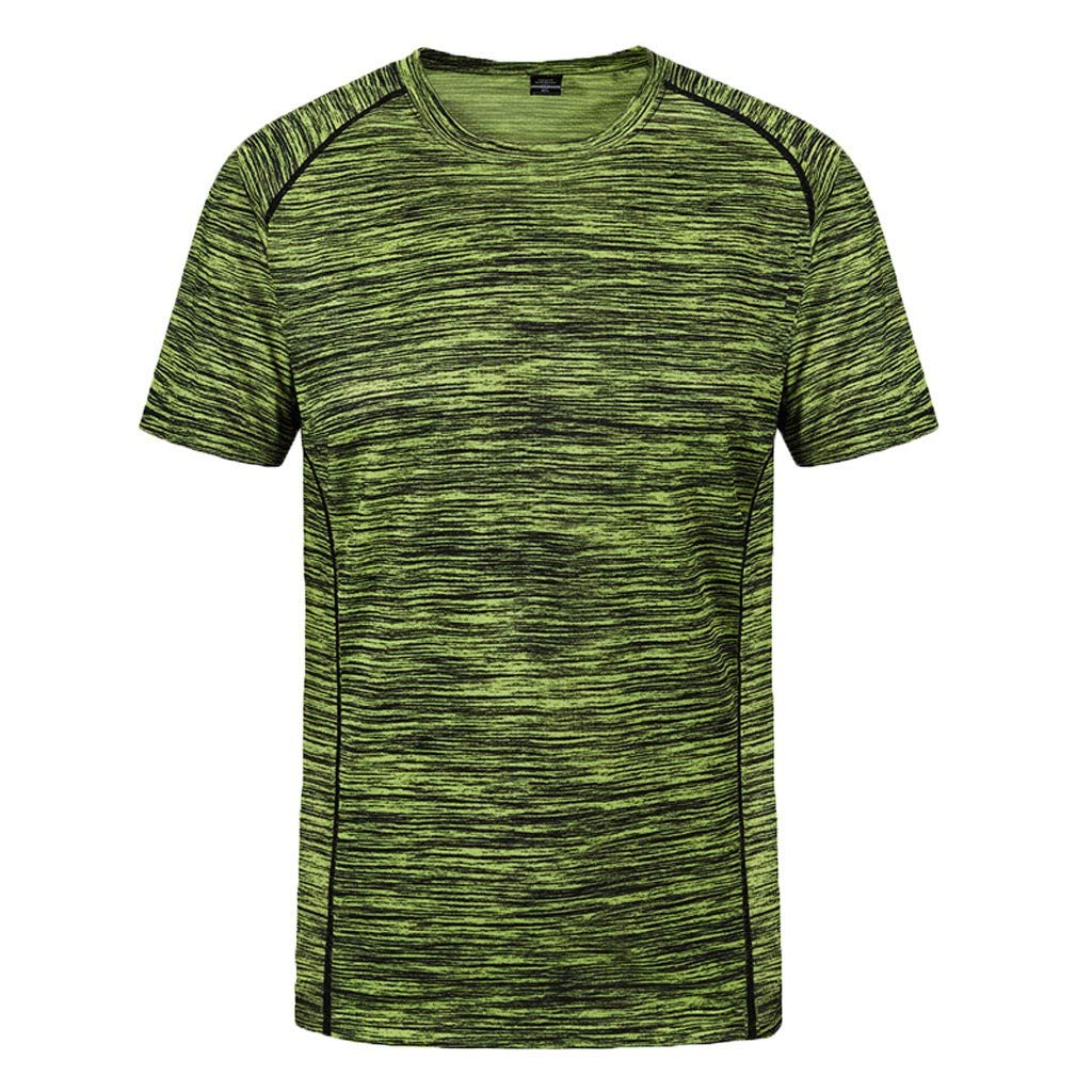 Breathable Muscle Fitness Solid Short Sleeve Outdoor Camouflage Sweatshirt Tank Top Masculinous Tees T Shirts for Men