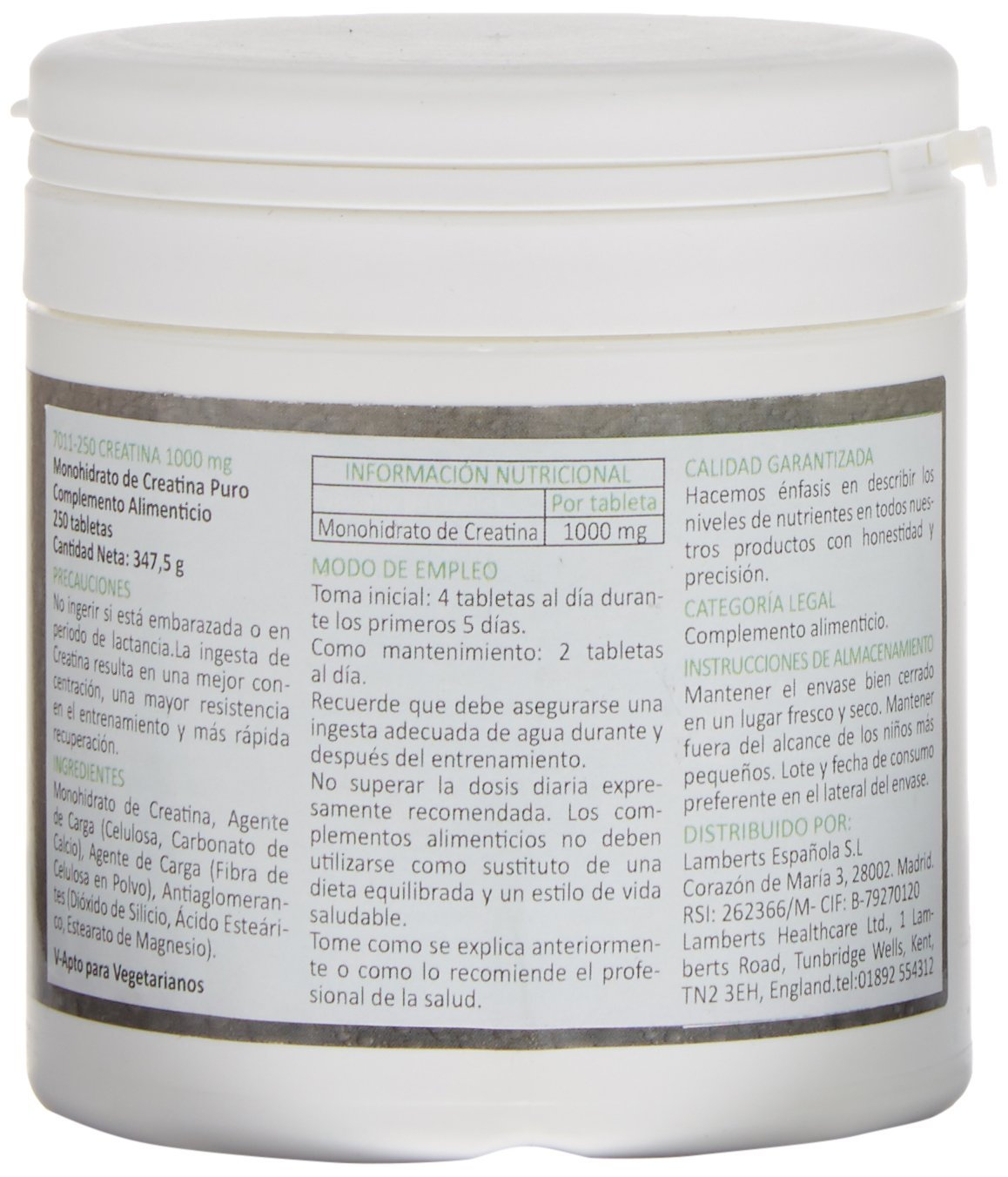 Amazon.com: Lamberts Performance Creatine - 250 Tabs by Lamberts ...