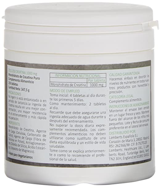 Amazon.com: Lamberts Performance Creatine - 250 Tabs by Lamberts: Health & Personal Care