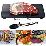 Quick Defrost Tray, Defrosting Tray,Alwayswe Frozen Food Meat Quick Defrosting Safe Fast Defrost Tray Defrosting in Minutes+Locking Clip Barbecue Tongs