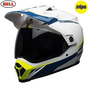 Bell Cascos MX-9 Adventure MIPS, linterna blanco/azul/amarillo, XS
