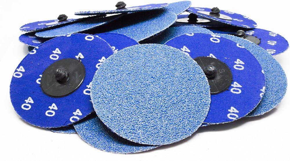 """B016N8784S 3"""" Roloc Zirconia Quick Change Sanding Discs 40 Grit - 25 Pack 71X5vbPgT7L"""