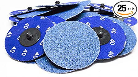 "25-3/"" Roloc Zirconia Quick Change Sanding Disc 40 Grit and Mandrel"