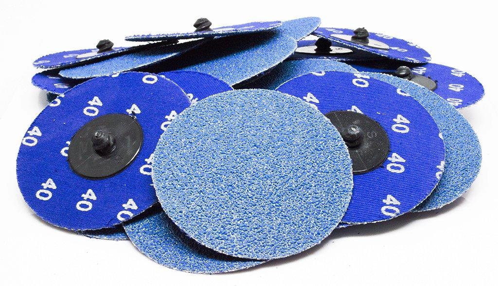 """500 3/"""" Roloc Zirconia Quick Change Sanding Disc 80 Grit"""