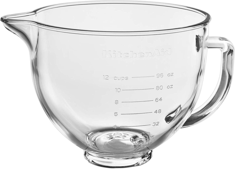 Amazon Com Kitchenaid Stand Mixer Bowl 5 Quart Glass With Measurement Markings Kitchen Dining