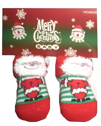 Calcetines para bebé Baby Newborn regalo Diseño De Papá Noel Navidad Santa Claus calcetines Papá