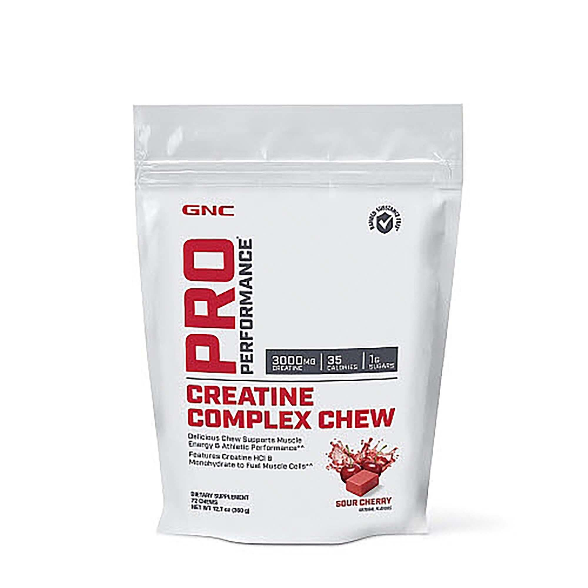 GNC Pro Performance Creatine Complex Chew - Sour Cherry