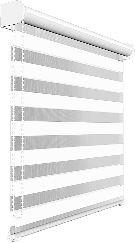 Victoria M. - Estor Doble Enrollable (para Ventanas y Puertas) 155 x 175 cm, Blanco