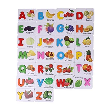 Puzzles Good Children Digital Letter Cognition Puzzle Fruit Animal Awareness Card Wooden Jigsaw Puzzle Games Toys For Children For Fast Shipping Toys & Hobbies