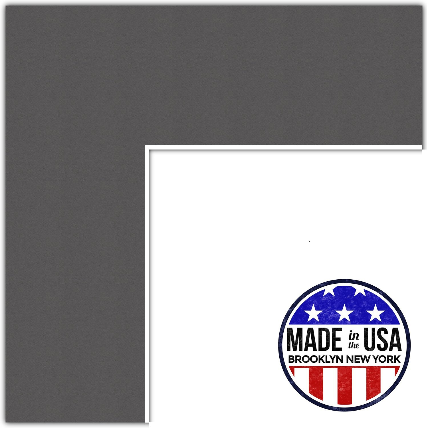 11x17 Cinder / Charcoal Custom Mat for Picture Frame with 7x13 opening size (Mat Only, Frame NOT Included)