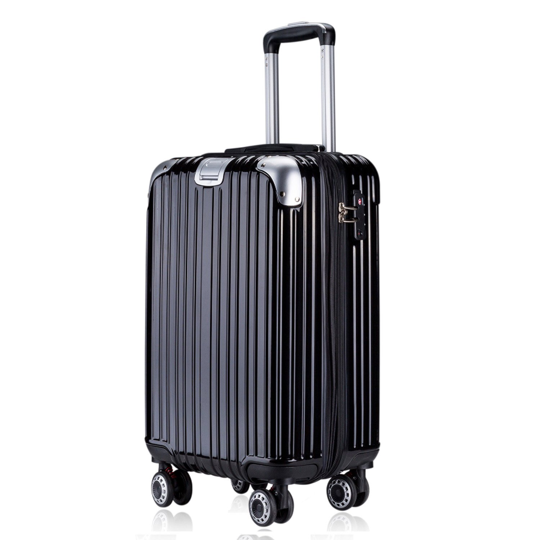 OTT スーツケース 超軽量 TSAロック搭載 Wファスナータイプ B07857T9T3  ブラック Mサイズ(5~7泊/4.5KG/60L)