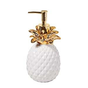 SKL Home by Saturday Knight Ltd. Gilded Pineapple Lotion Dispenser White/Gold