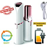 Ekana Mart Lipstick Shape Painless Electronic Facial Hair Remover Shaver For Women (Battery Not Included)