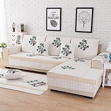 AISHUAIGE Slipcovers For Sofas 1/2/3 Seat Leaf Bordado Funda ...