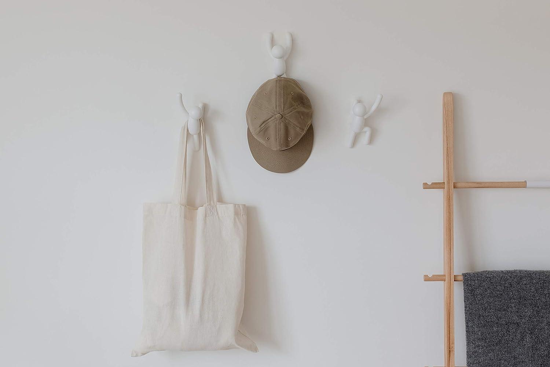 Umbra Buddy - Soporte para fotos, diseño de personas sosteniendo carteles, color blanco