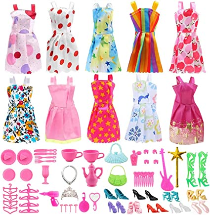 Popular Barbie Doll sized Accessory//Cloth-6 pc Fashion dresses-Gift-ON SALE//BEST