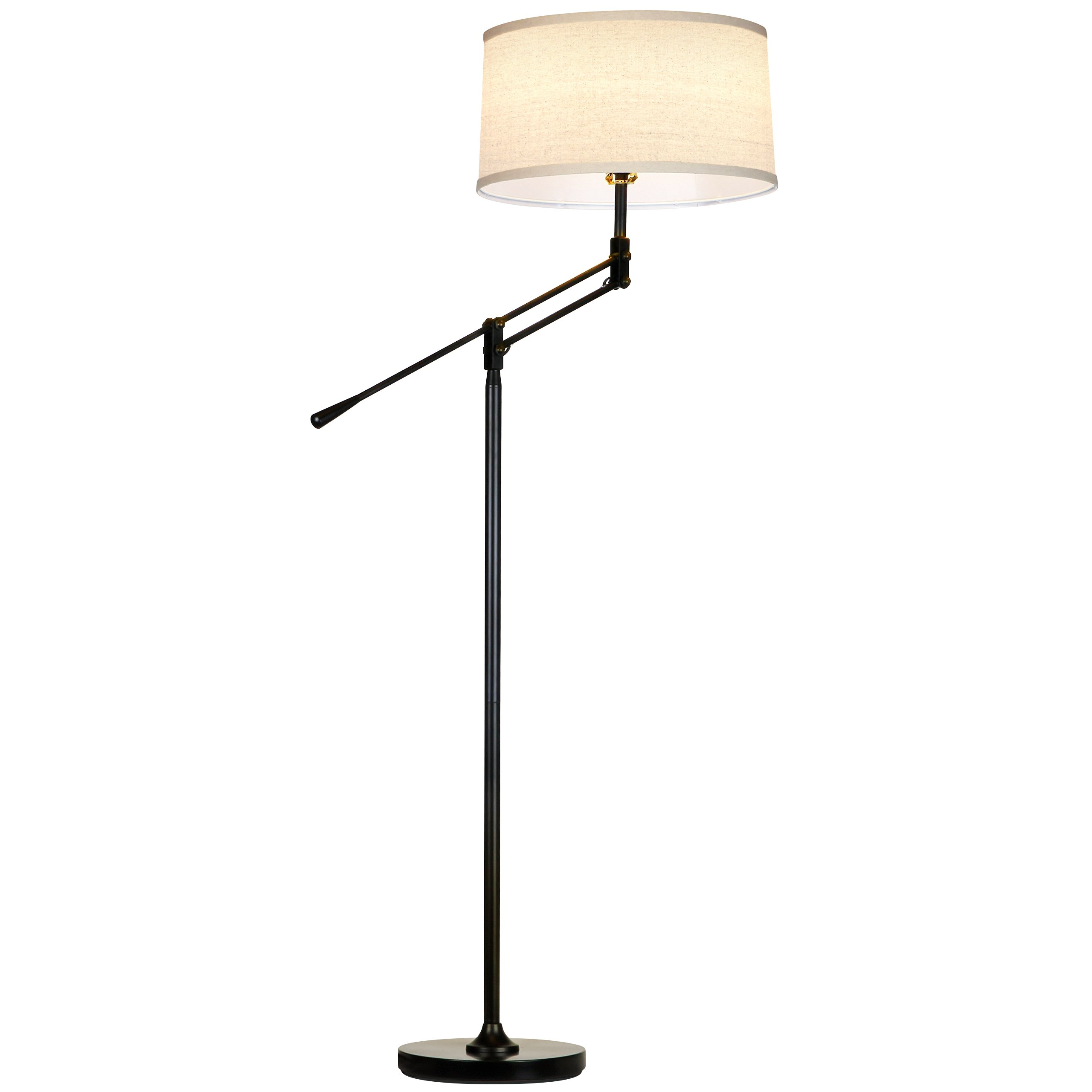 Brightech Ava LED Floor Lamp - Living Room, Office and Bedroom Standing Tall Pole Light with Adjustable Uplight and Downlight - Alexa, Echo Compatible, Classic
