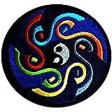 Yoga Om Yin Yang Symbol Spirituel Méditation Hindoue Inner peace Patch '' 7,7 x 7,7 cm '' - Écusson brodé Ecussons Imprimés Ecussons Thermocollants Broderie Sur Vetement Ecusson Hippie