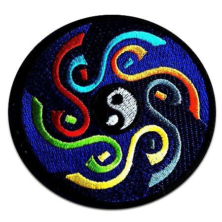 Yoga Om Symbol With Yin Yang Symbol Spiritual Hindu Meditation Inner