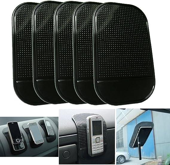 5PCs Black Mat Nonslip Car Dashboard Sticky Pad for phone Anti slip