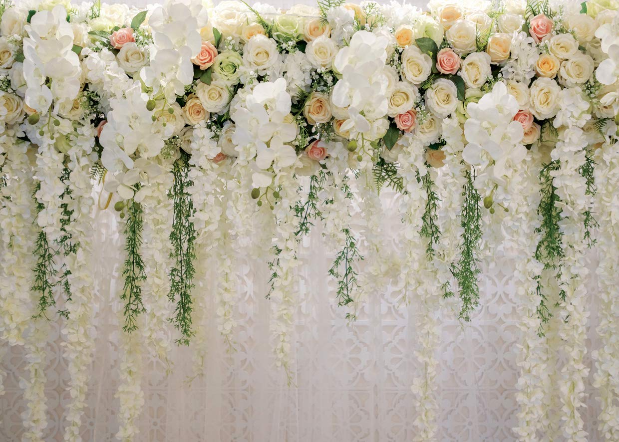 AIIKES 20x20FT Flowers Wall Backdrop Spring Floral Photography ...