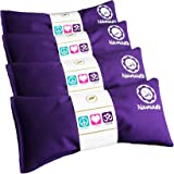 Happy Wraps Namaste Lavender Yoga Eye Pillows - Hot Cold Aromatherapy for Stress, Meditation, Spa, Relaxation Gifts - Set of