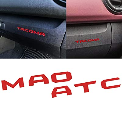 Xotic Tech Dashboard Glove Box Letter Inserts Decal Sticker for Toyota Tacoma 2016-2020, Glossy Red: Automotive