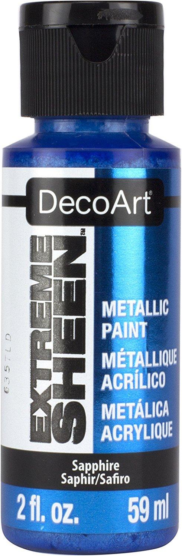 DecoArt 2 Ounce, Sapphire Extreme Sheen Paint, 2 oz DPM17-30