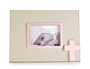 mud pie distressed wooden cross frame pink - Wooden Cross Frame