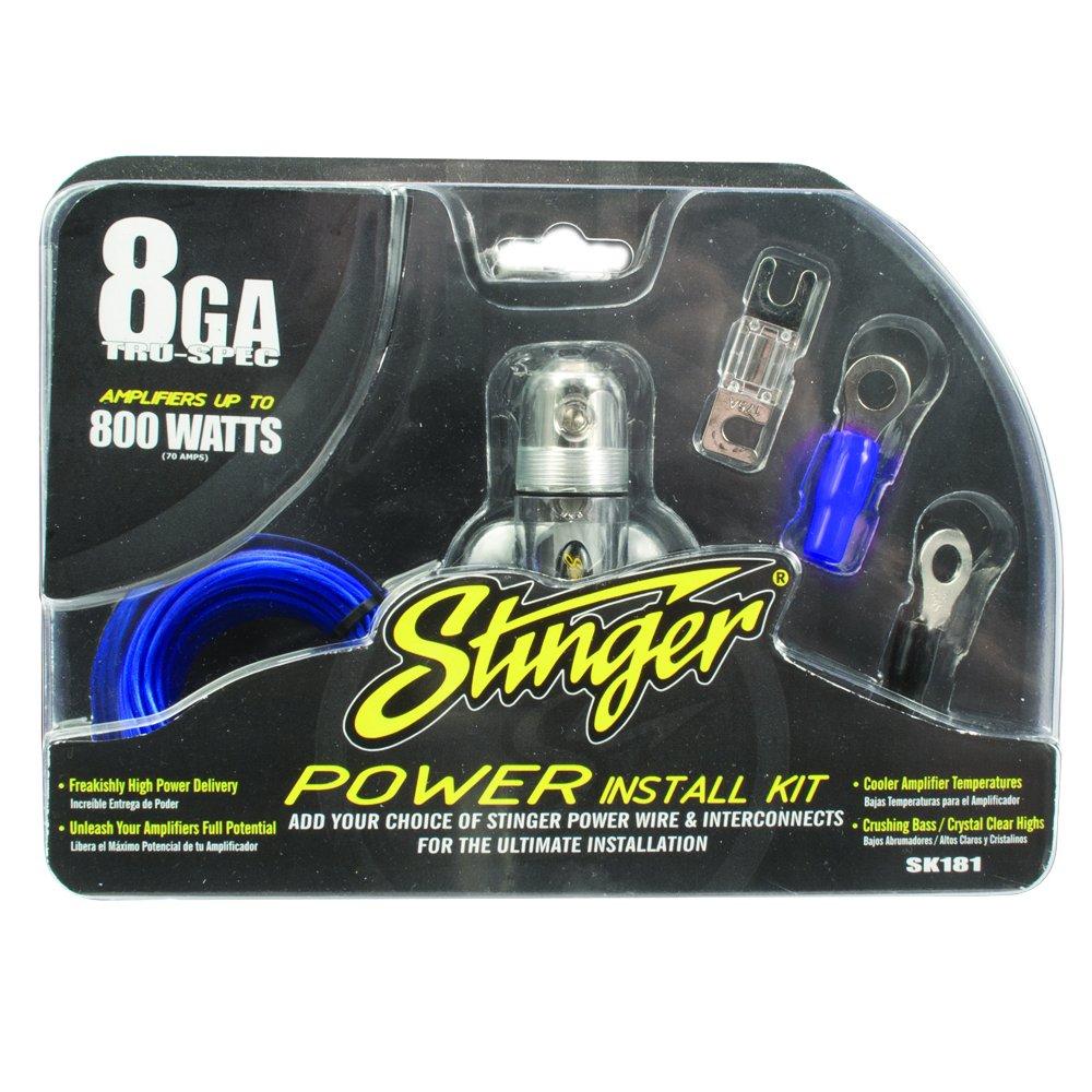 Amazon.com: Stinger SK181 800-Watt 8-Gauge Car Audio Amplifier ...