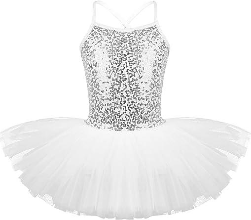 MSemis Vestido Danza Clásica para Niñas Maillot Ballet con ...
